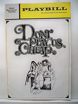 DON'T PLAY US CHEAP Playbill ESTHER ROLLE / AVON LONG Opening Night NYC 1972