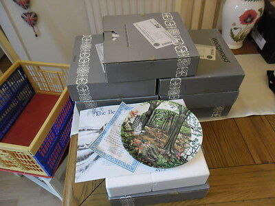 Bradex/Wedgwood Country Panorama England's Countryside Set of 8 Plates (Boxed)