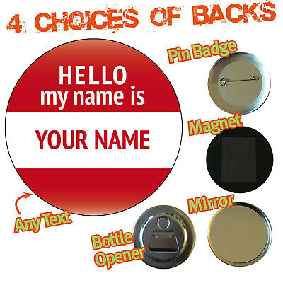 Personalised Hello My Name Is Business Party Date Badge Magnet Bottle Opener 809