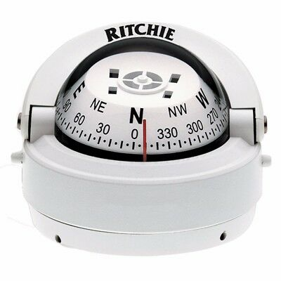 NEW Ritchie S-53w Explorer Compass Surface Mount White