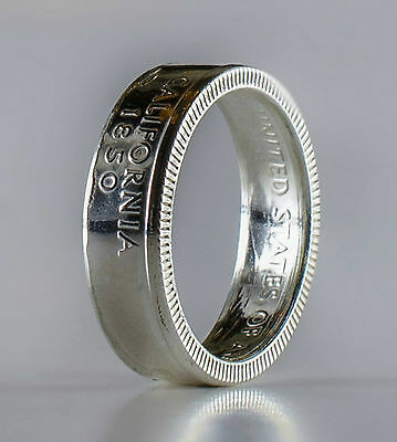 Coin Ring *Top Quality* 90% Silver Quarter Handmade - California State