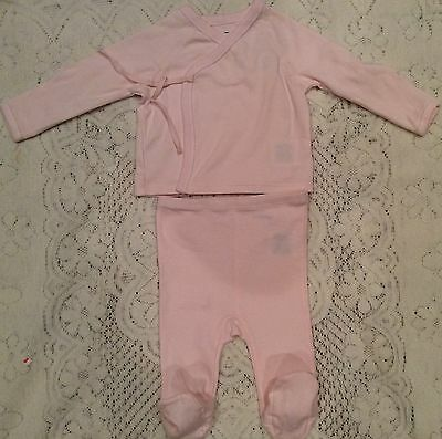 New Baby Girls Ralph Lauren Cotton Kimono 2-piece Set 3M