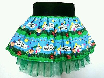Ben and Holly's little kingdom Blue summer tutu party skirt. Age 1 2 3 4 5 6