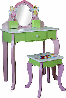 Kids Dressing Table Stool Childrens Dressing Table Butterfly Furniture Wooden