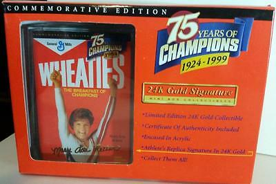 1984 Wheaties 75 years of Champions 24K Gold Signature Mini Box Mary Lou Retton