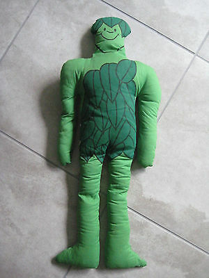 """Vintage GM Jolly Green Giant Plush Stuffed Advertising 27"""" Tall USED Toy"""