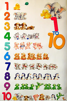 COUNTING 1 TO 10 POSTER (91x61cm) CHILDREN'S EDUCATION NEW LICENSED ART