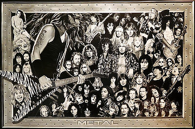 HEAVY METAL COLLAGE POSTER (61x91cm)  NEW LICENSED ART
