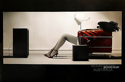 BLOWN AWAY GIRL - RED COUCH POSTER (61x91cm)  NEW LICENSED ART