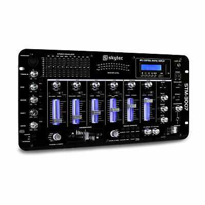 Neu Skytec Stm-3007 Dj Mischpult Bluetooth Usb Sd 6 Kanal Mp3 Mixer Rack Montage