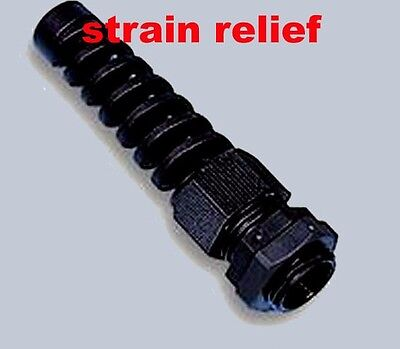 Cable Gland With Spiral Strain Relief 6.5 mm Max Diameter 12 mm Hole New