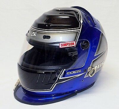 Mike Bliss Simpson Race Used DRIVER HELMET with Paint by BEAM