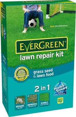 20sqm EVERGREEN LAWN REPAIR KIT 1kg SCOTTS GRASS SEED BARE PATCH
