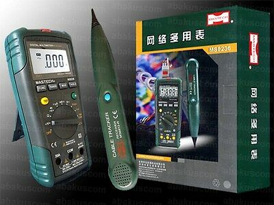 MASTECH MS8236 Digital Multimeter + Cable Tester + Cable Tracker 3 in 1