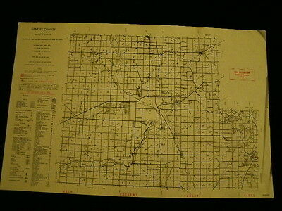 Vintage Map 1955 Genesee County Conservation DNR MICHIGAN MI