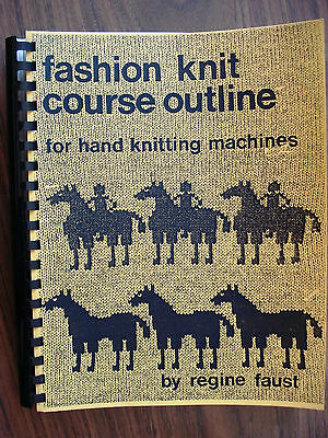 Rare VTG Fashion Knit Course Outline for Hand Knitting Mashines by Regine Faust