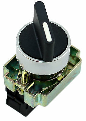 22mm Panel Mount 2 Position Spring Return Switch 10Amp 400V 1 x NO (Box of 5)
