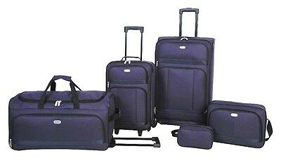New  5 Piece Travel Luggage Suitecase Duffel Overnight Holliday Bags Set