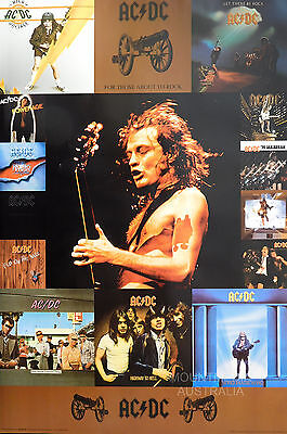 ACDC ALBUM COVERS POSTER (91x61cm)  NEW LICENSED ART