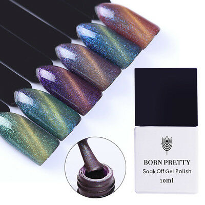 10ml Born Pretty Magnetic Cat Eye Gel Polish Chameleon Soak Off UV LED Varnish