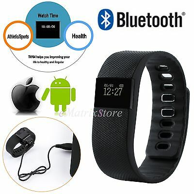 TW64 Sports Fitness Pedometer Smart Wristband Watch Activity Bluetooth Tracker