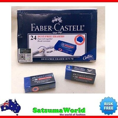 3x FABER CASTELL Dust Free Eraser Break resistant model 187170 pastel clean new