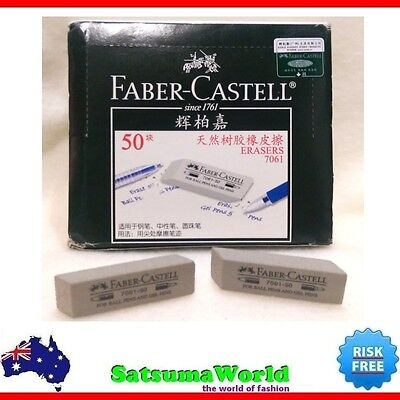 5x FABER CASTELL Ball and Gel Pens Ink Eraser model 7061 pastel clean new