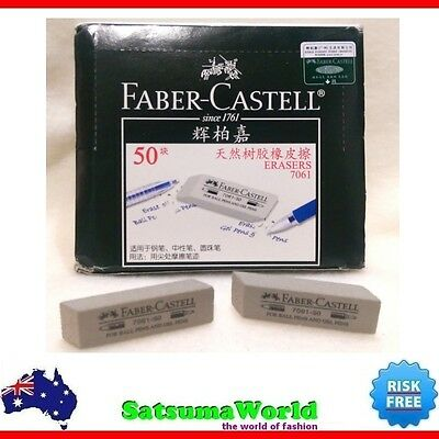 FABER CASTELL Ball and Gel Pens 5pcs Ink Eraser model 7061 pastel clean new