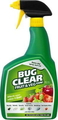 BUG CLEAR GUN For Fruit And Vegetables Kills On Contact 800ml Greenfly Blackfly