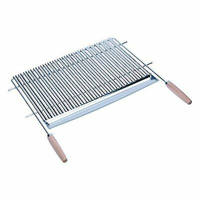 Sauvic 02795 Grille de Barbecue Inoxydable en V avec Manches Bois 70 x NEUF