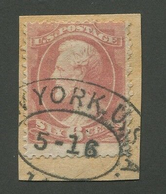 United States #208 Used On Piece