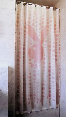 Official Licensed Playboy Pink Bubbles Bathroom Shower Curtain 180Cm