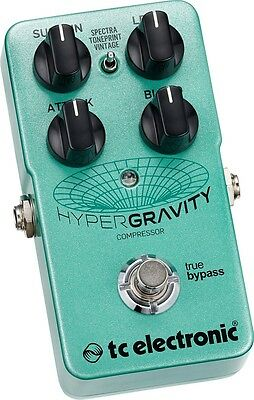 TC Electronic HyperGravity Compressor Guitar Effects Pedal, NEW