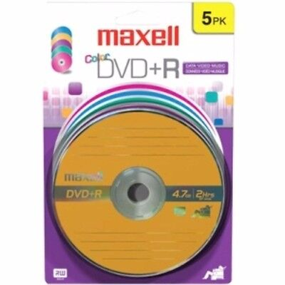 NEW Maxell Dvd+r Color 16x Blistercard 5 Pk Blister Card 5 Pk 639031