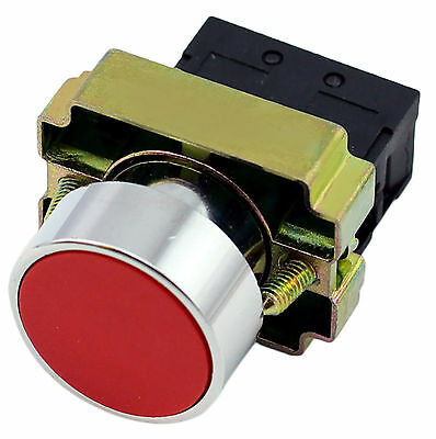 22mm Panel Mount Metal Push Button Red Momentary Switch 2 Pos. Round 10Amp 400V