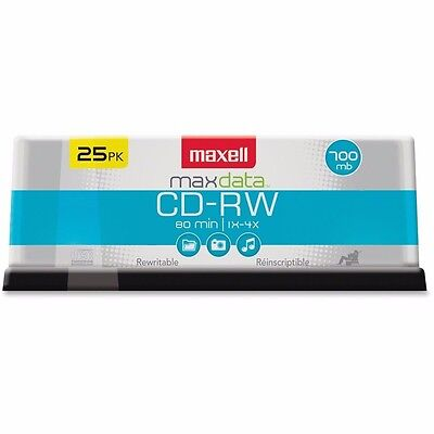 NEW Maxell Cd Rewritable 4x 700mb25 Spindle Nic 4x 700mb 25 Spindle 630026
