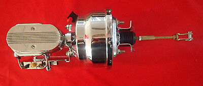 "1964-1967 chevelle chrome brake booster gm A body 8"" dual DISC DRUM VALVE"