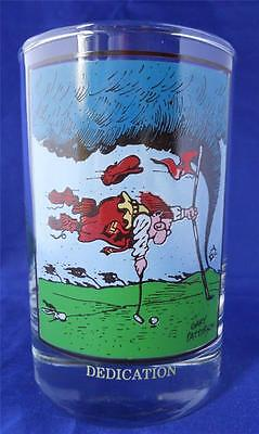 Vintage 1982 Arby's Gary Patterson Dedication Golf Glass Tumbler Thought Factory