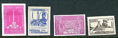 Rare Lot Of Early Afganistan Imperfs!