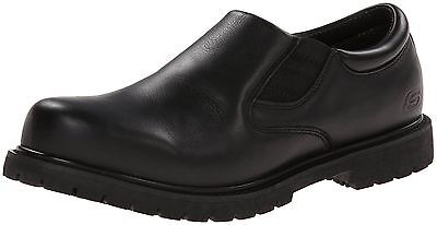 77046 Skechers Men's Work Cottonwood Goddard Twin Gore Slip On Black