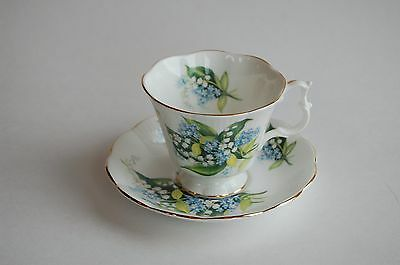 Royal Albert Lily of the Valley tea cup and saucer, bone china - vintage