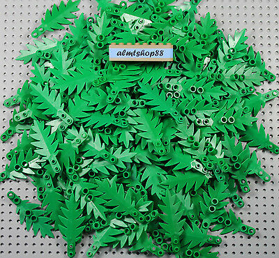 LEGO - Palm Leaves 8x3 Small Green - Plant Tree Jungle Forest Foliage Lot Leaf