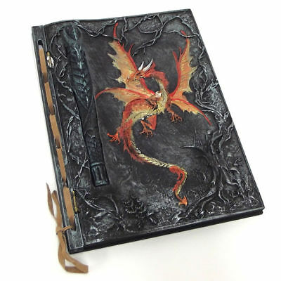 Dragon Notebook Journal Diary Book Ornament Hard Cover with inset Pen 21cm 1246