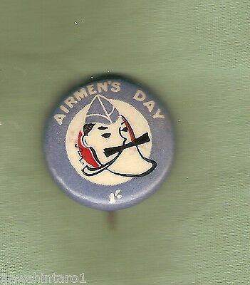 #d240.    Airmens' Day  Tin Badge - One Shilling