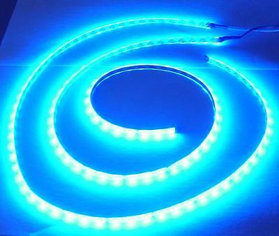 2x 100cm CLAIR DE LUNE LED Moulure, bleu LED, 2 Flex bandes TOTAL 200cm, 120 SMD • EUR 19,98