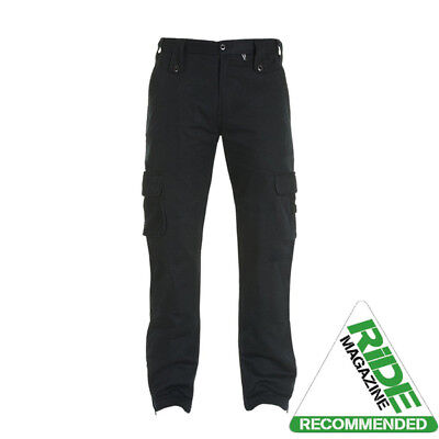 Bull-it SR6 Cargo Mens Jeans Motorcycle Regular Fit Reg Leg Covec Aramid Black