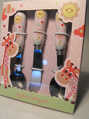 Girls First Cutlery Set Toddlers 1St First Cutlery Set Fork And Spoon Set New