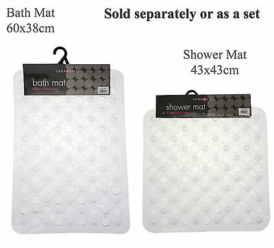 Non Slip Bath Tub Mat or Shower Tray Mat. Clear PVC Buy separtate or as a set