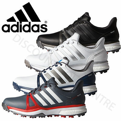 Adidas Mens AdiPower Boost 2 Tour Waterproof Golf Shoes - Wide Fitting