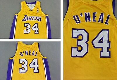 SHAQ O'NEAL LOS ANGELES LAKERS CHAMPION BASKETBALL JERSEY NBA SIZE M (adults)